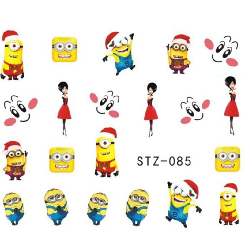 1xCute Cartoon Christmas Style Water Transfer Foils Nail Art Stickers Beauty Nails Wraps Decoration Decals Manicure Tools ST085(China (Mainland))