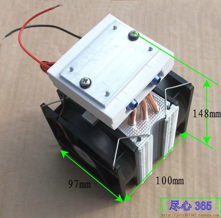 Thermoelectric Peltier Refrigeration Cooling System Kit with Cooler fan TEC1-12715 free shipping(China (Mainland))