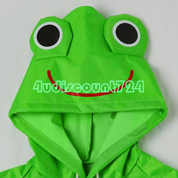 Eqz222 симпатичные дети зеленый плащ детский мультфильм с капюшоном дождевик водонепроницаемый рыболовства-лягушка
