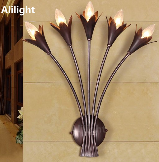 Wall Sconces With Flowers: Popular Flower Sconce-Buy Cheap Flower Sconce Lots From