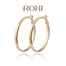 ROXI fashion new arrival, genuine  Austrian crystal, Hoop Earrings,women trendy earrings Chrismas/Birthday gift(China (Mainland))