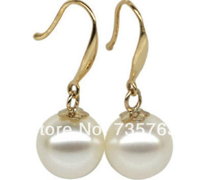 xiuli 00180 PAIR OF HUGE 12-11MM PERFECT ROUND SOUTH SEA WHITE LOOSE PEARL EARRING 14K<br><br>Aliexpress