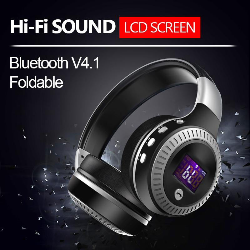 ZEALOT B19 LCD Display HiFi Bass Stereo Bluetooth Headphone Wireless Headset With Microphone,FM Radio,Micro-SD Card Slot(China (Mainland))