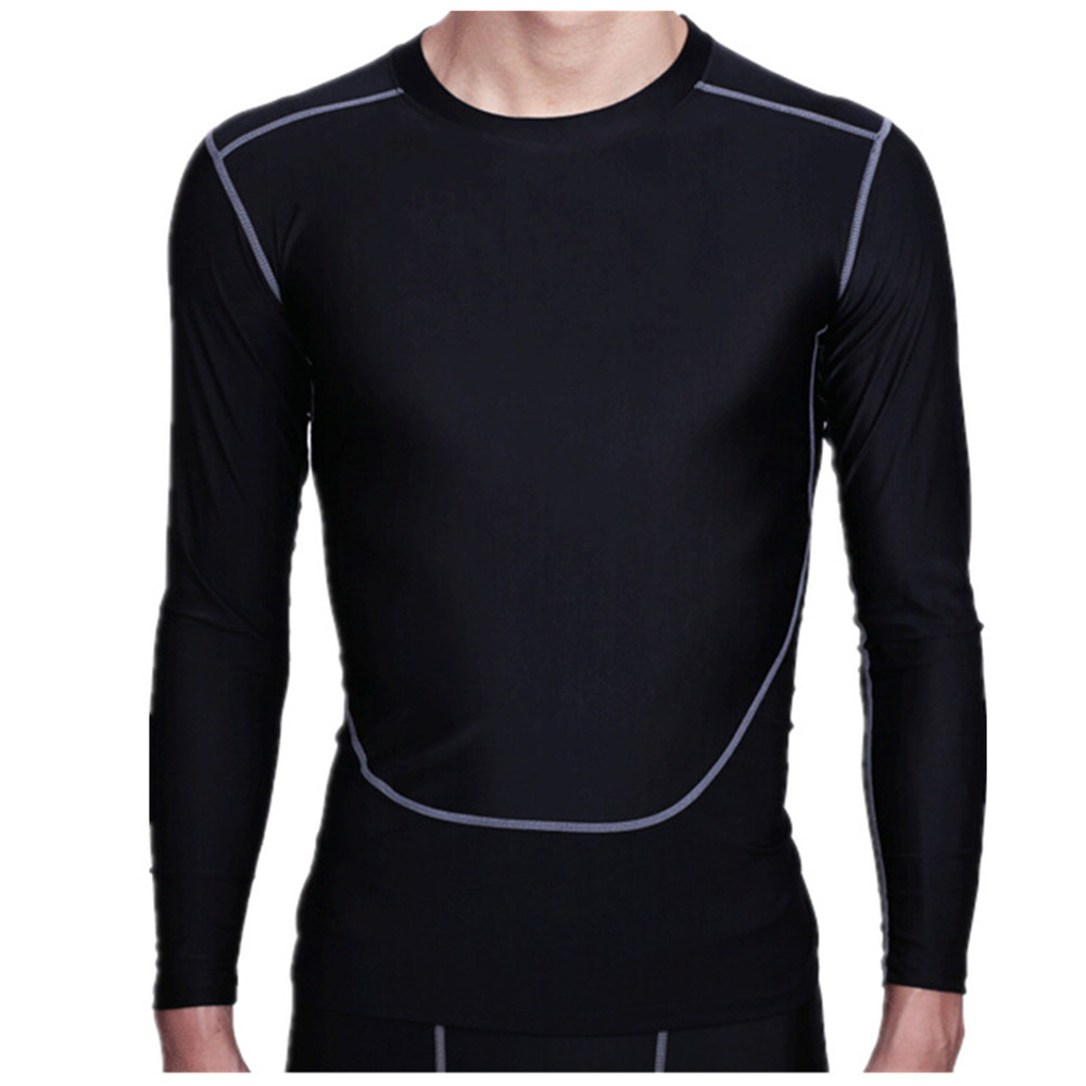 Men Boy Plus Thick Velvet Warm Tight Top Shirt Quick Dry Compressed Breathable Flexible Long Sleeve O Neck Sport Gear Jerseys(China (Mainland))