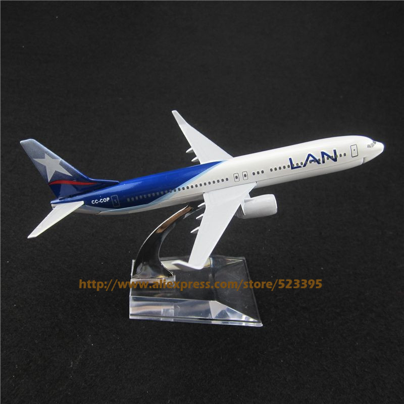 16cm Alloy Metal Air Chile LAN Airlines Plane Model Boeing B737 800 CC-COP Airplane Model with Stand Toy Decoration Gift(China (Mainland))