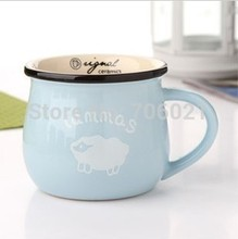 Zakka Cute Lovers Cup Bone Cup Coffee Cup Large Capacity Mug Ceramic Milk Cup 300ml Birthday