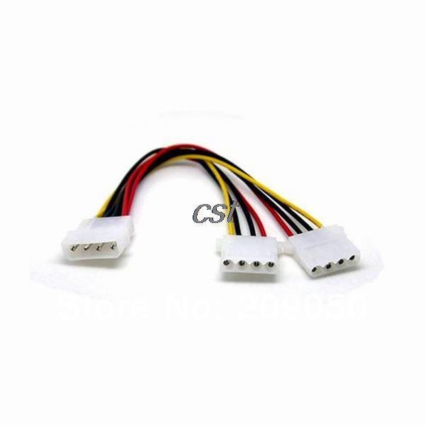 Гаджет  High Quality 4pin IDE 1-to-2 Molex Power Supply Y Splitter Extension Cable None Компьютер & сеть