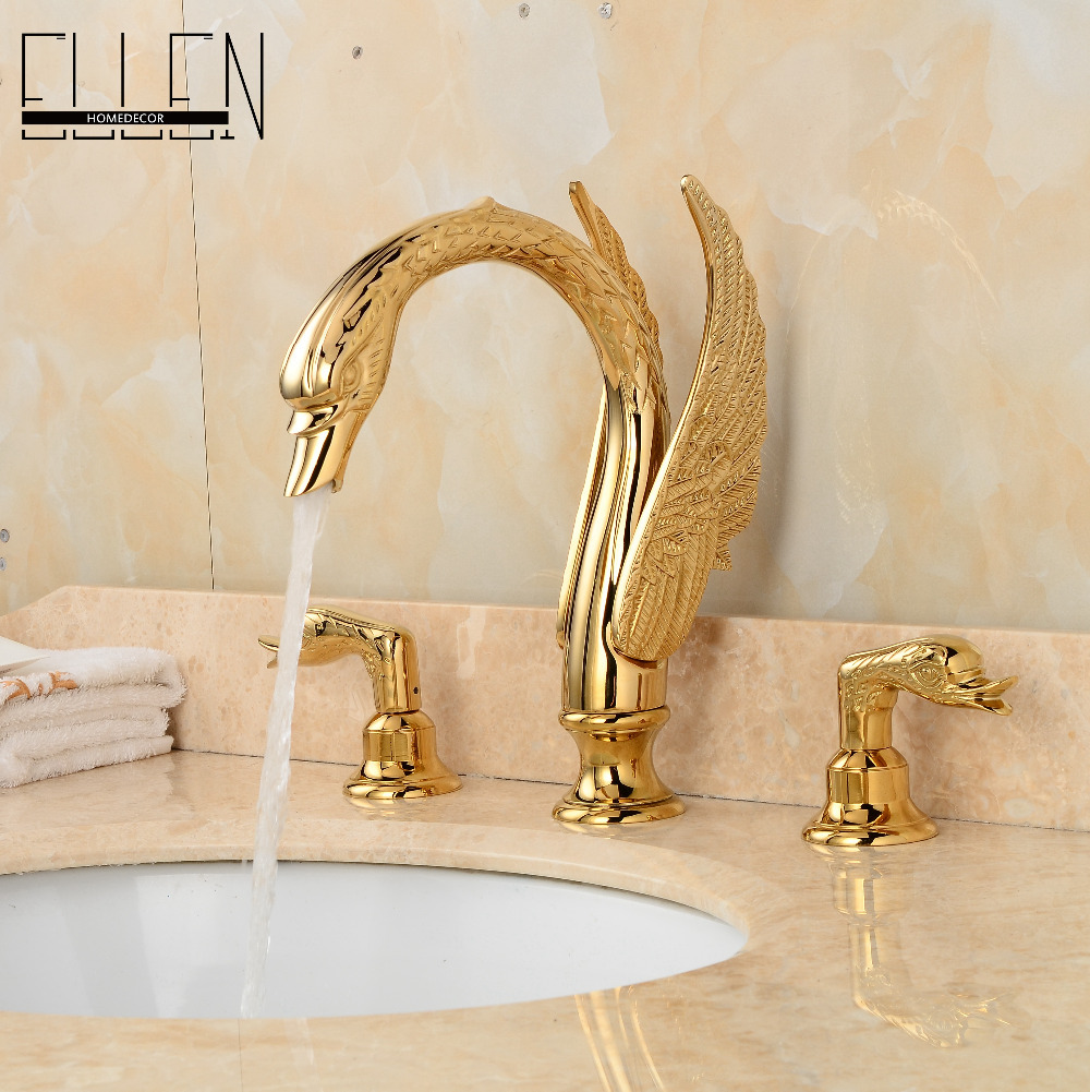 Luxury AQUA BRUSHED GOLD LUXURY BATHROOM FAUCET