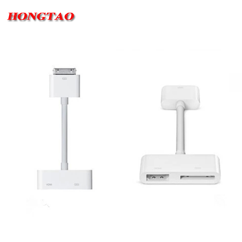 1080P Digital HDMI Cable High Definition Dock Connector Kit 30pin to HDMI AV HDTV Adapter for iPhone 4 4s for iPad 2 3 for iPod(China (Mainland))