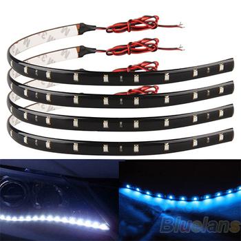 New 30cm Red 15 LED Strips Car Trucks Motor Grill Flexible Waterproof Light Strips Free Shipping