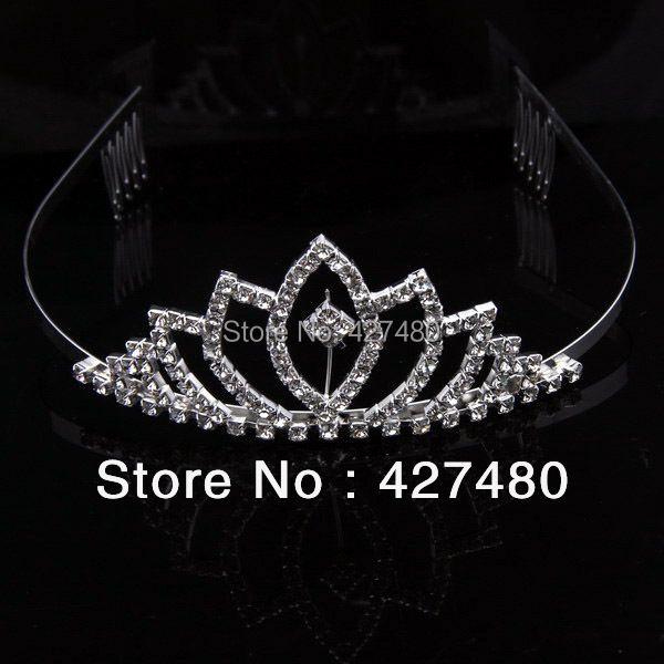 Latest design fashion headwear hair accessory crystal jewelry pageant crown princess tiaras(China (Mainland))