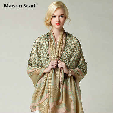 2015 new style summer shawl 100 silk scarf BRAND satin 180x110cm big size hijabs fashion pashmina designer scarves for women(China (Mainland))