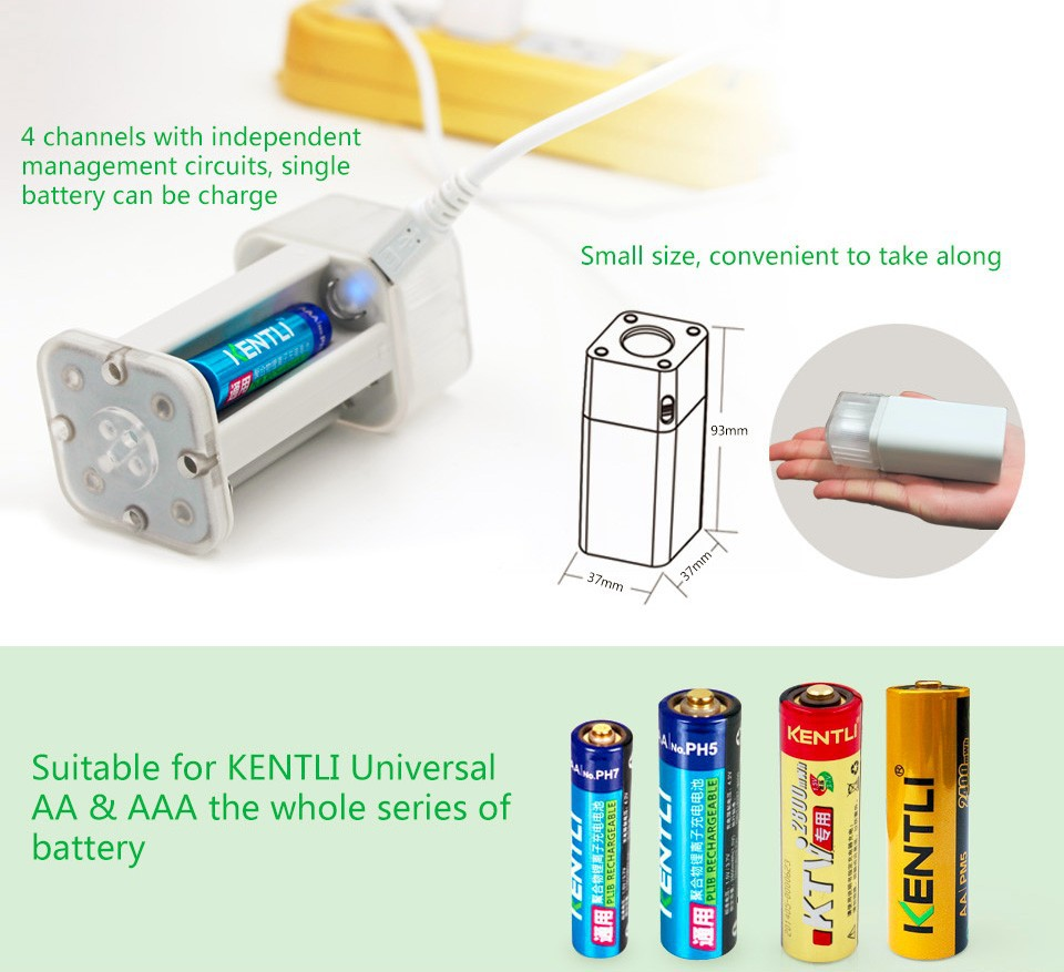 4pc kentli 2800mwh rechargeable lithium aa battery led flashlight charger ebay. Black Bedroom Furniture Sets. Home Design Ideas