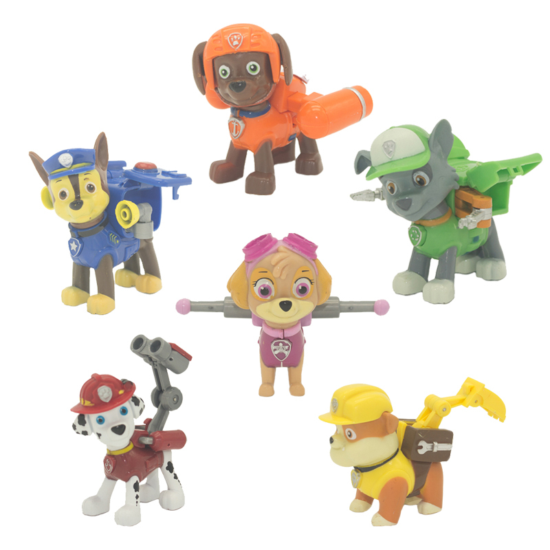 New 2015 Children Movie&TV Action & Toy Figures Paw Patrol Dog Kids Toys Model Plastic Cartoon Model Small Toys Hobbies Toy20(China (Mainland))