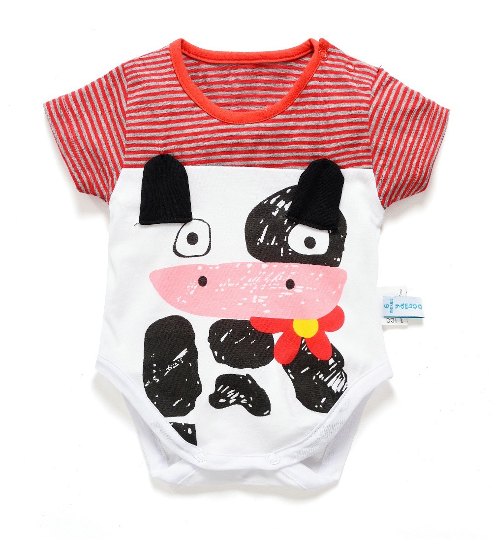 baby bodysuit kids jumpsuit newborn baby clothes summer girl body toddler overalls unisex one piece boy babies animal frog dog(China (Mainland))
