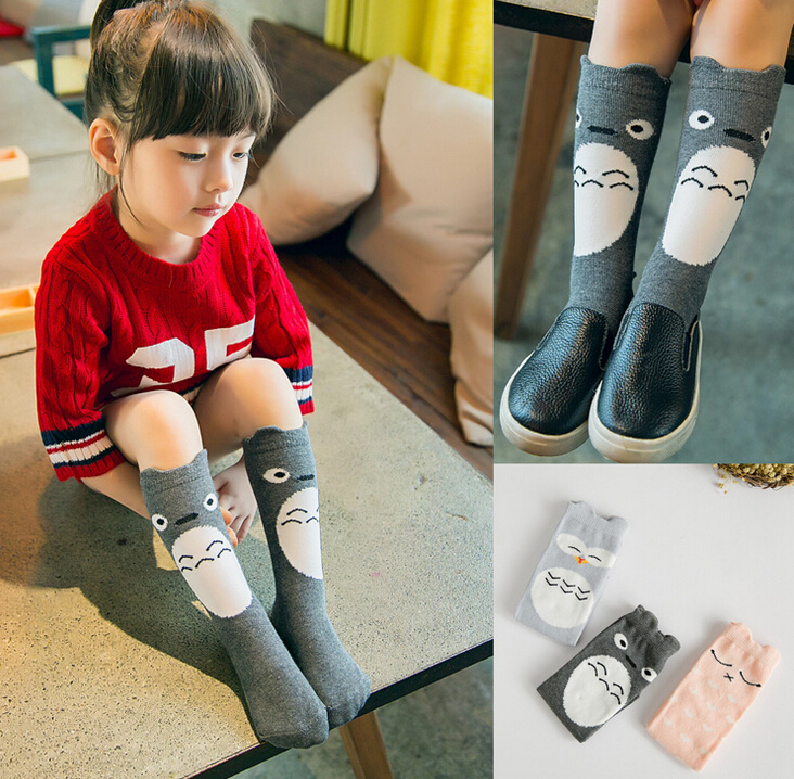 UPS ship Baby Leg Warmers Cartoon Totoro Owl Baby Leggings Cotton Knee Socks For Kids Legging Infantil Baby Leg Warmers