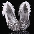 Fashion New Wedding Bridal Shoes White Rhinestone High Heels Bridal Prom Dress Shoes Christmas Party Bridesmaid