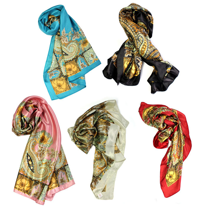2016 New Scarf Thin Silk Floral Scarf Spring And Autumn Large Square Scarf Head Scarves Shawl Wrap Kerchief Cachecol Feminino(China (Mainland))