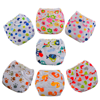1pc Baby Adjustable Diapers Children Cloth Diaper Reusable Nappies Training Pants Diaper Cover/27 Style Washable Free Size D02