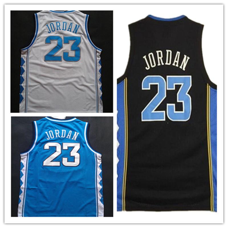 NCAA #23 Michael Jordan Stitched Cheap White North Carolina College Basketball Jersey Blue Michael Jordan Black Throwback Jersey(China (Mainland))