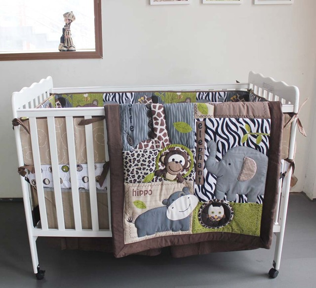 2015 новый 7 шт. лев детские постельных принадлежностей детская кроватка детская ...