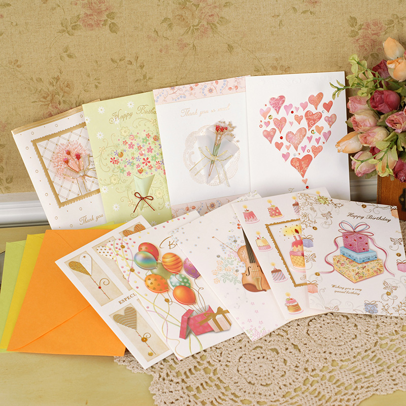 birthday greeting card with envelop candles and cakes decoration cards ...