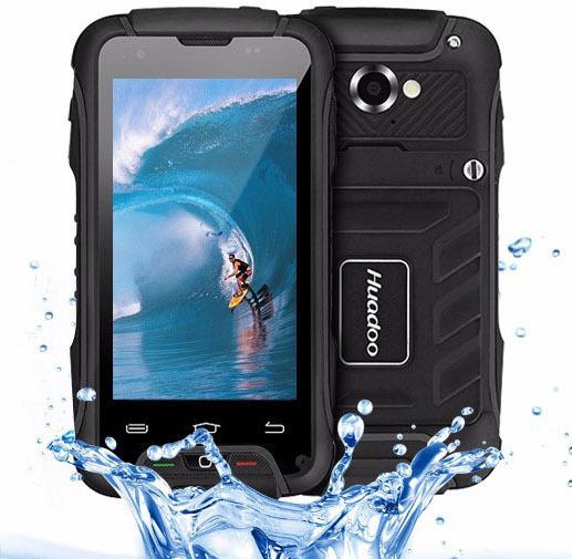 "Original 4"" Huadoo V3 MTK6582 Quad Core Waterproof mobile phone Android 4.4 1GB RAM 8GB ROM 8MP 3G GPS Dustproof Smartphone(China (Mainland))"