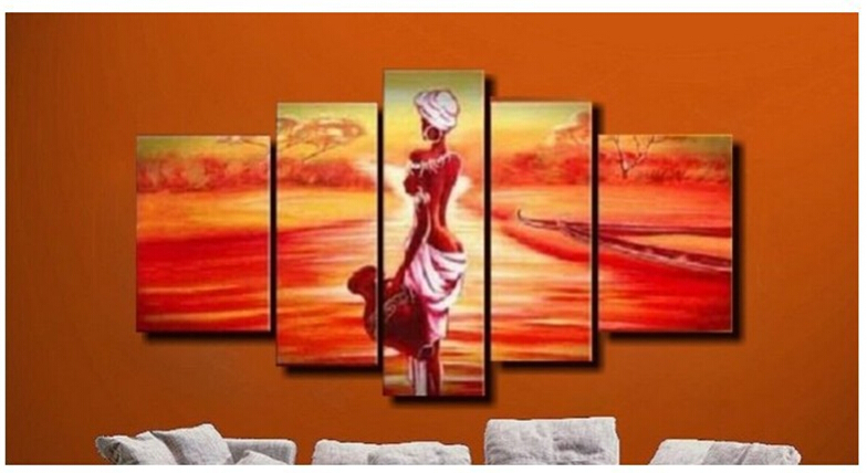 Handmade discount abstract african canvas art landscape for American frame coupon