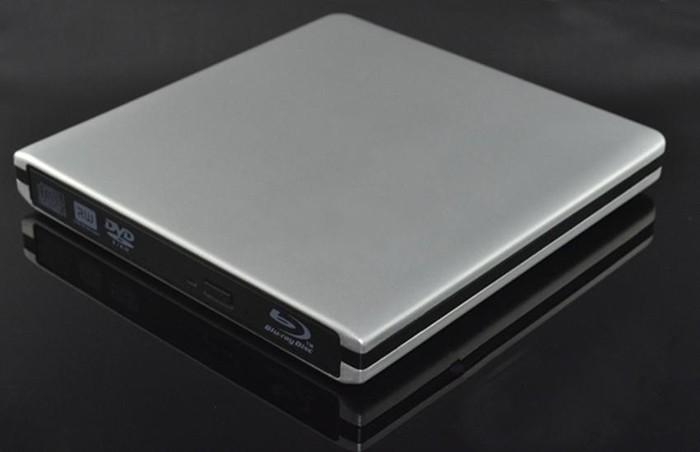 silver USB 3.0 2.0 SATA 12.7mm Super Slim Drive ODD HDD External Case Enclosure Caddy(China (Mainland))
