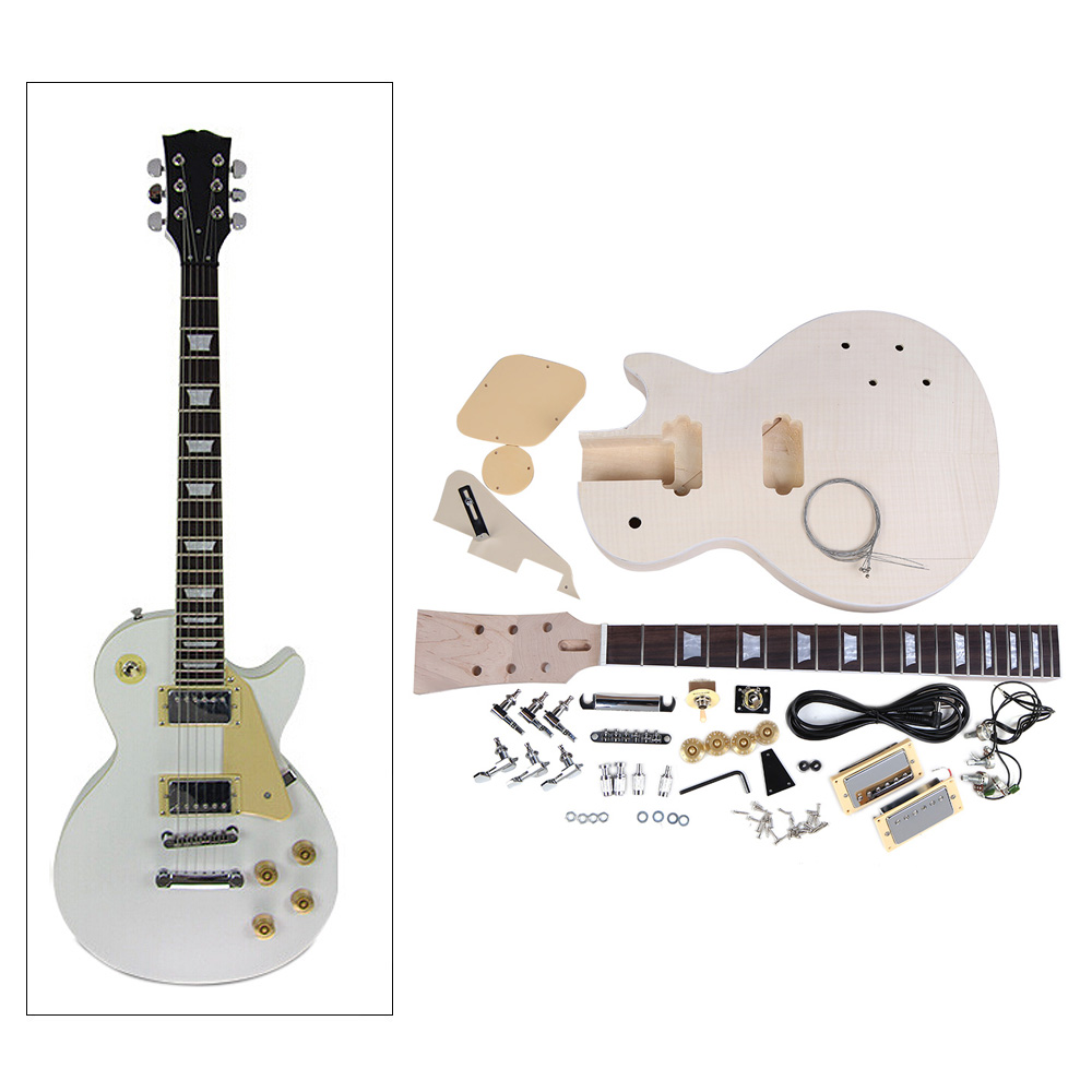 Hot Sale High Quality Electric Guitar DIY Kit Set Mahogany Body Rosewood Fingerboard Guitar Set for Guitar Lovers(China (Mainland))