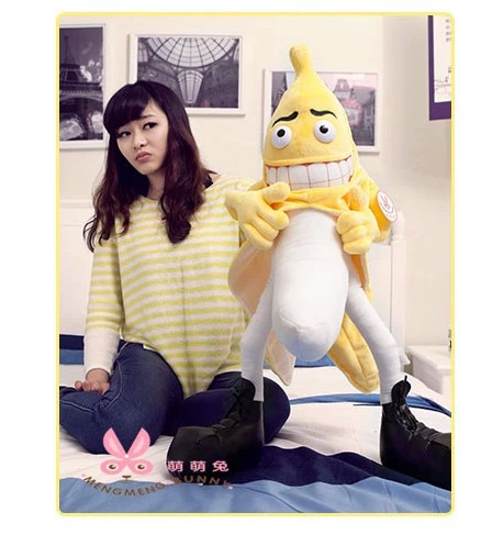stuffed plush toy about 55cm evil Banana Man throw pillow boyfriends pillow doll funny gift t9591<br><br>Aliexpress
