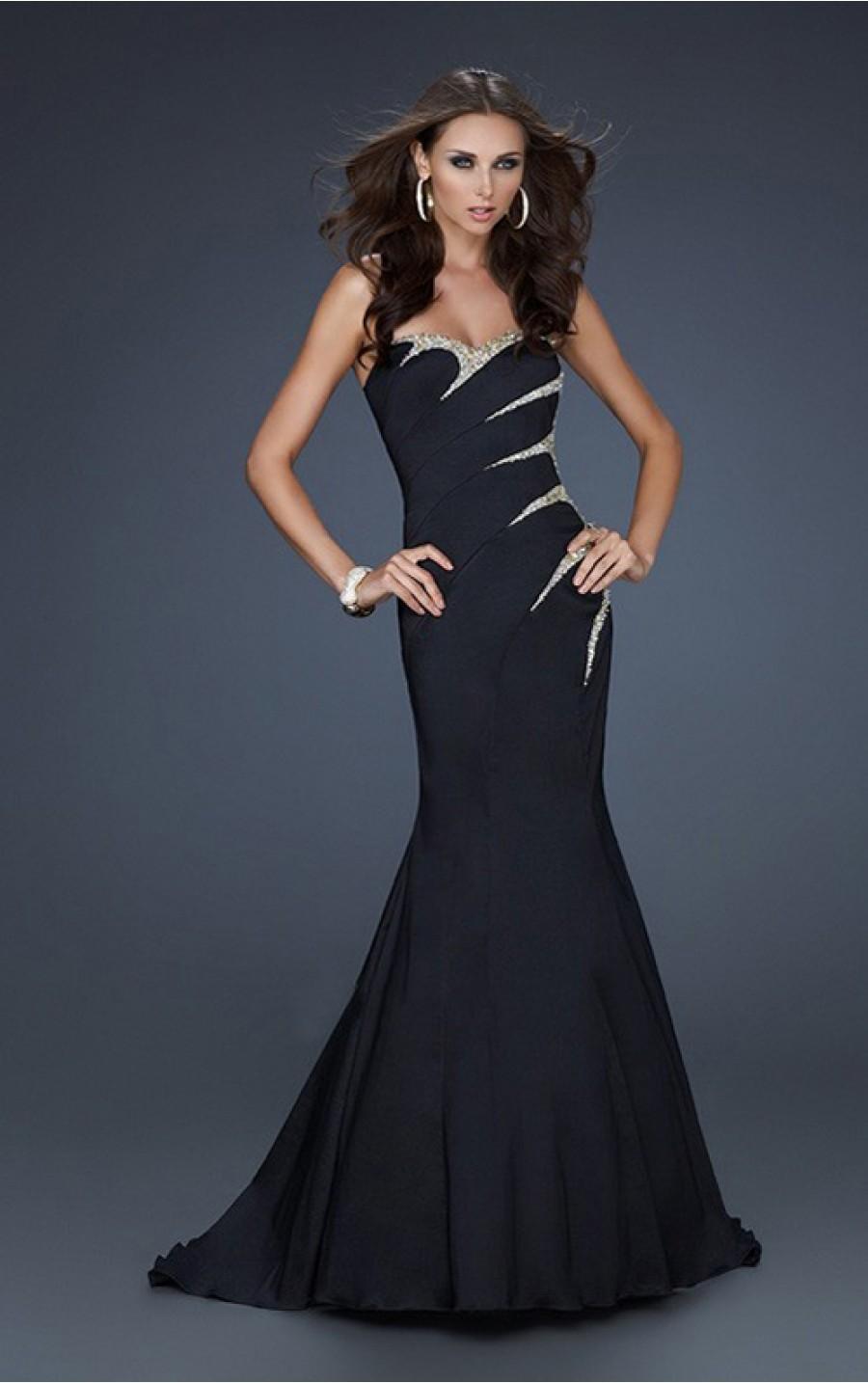 Simple Black Strapless Dress Cocktail Dresses 2016