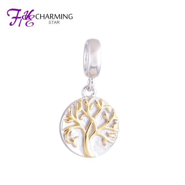 Серебро 925 золотые амулеты жизнь дерева мотаться шарм подарок для лучших друзей ...