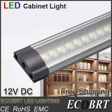 2014 aluminum ce 12v kitchen surface led spotlight dimmable bedroom linear under cabinet closet bar lights linkable 2pcs/lot(China (Mainland))