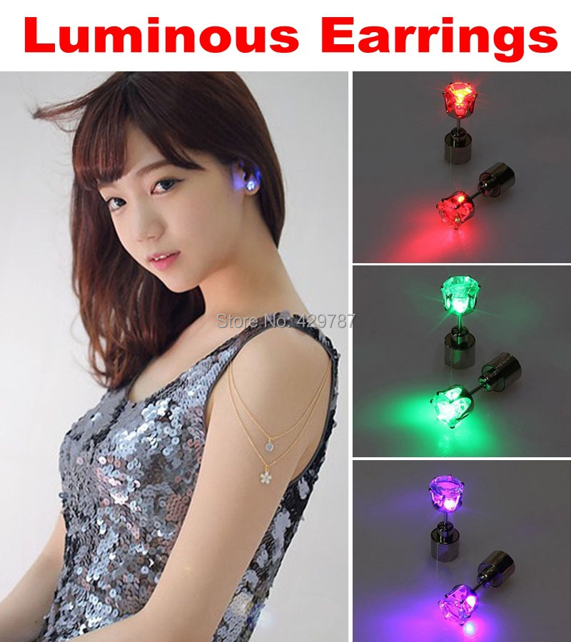 20pairs Factory price multicolor Light Up Led Earrings,LED ...