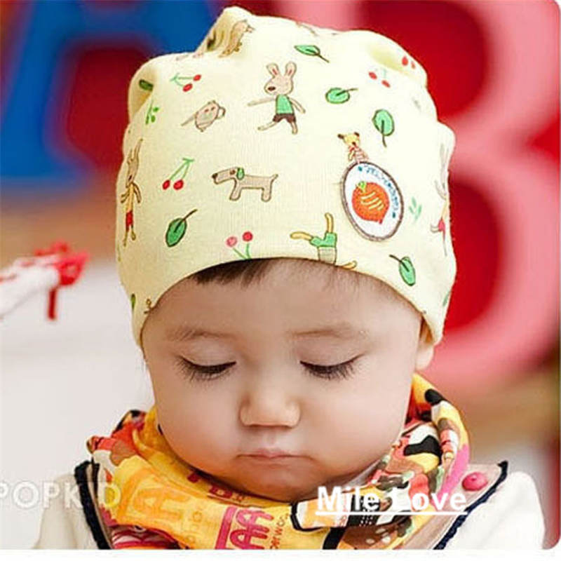 2015 Lovely Pattern Baby Hat Winter Knitted Cap For child kids baby beanies Cotton Infants Hat MZ0007(China (Mainland))