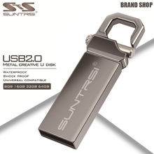 Suntrsi Metal USB Flash Drive 64GB USB 2.0 Pendrive High Speed Pen Drive 32GB USB Stick Real Capacity Flash Drive Free Shipping(China (Mainland))