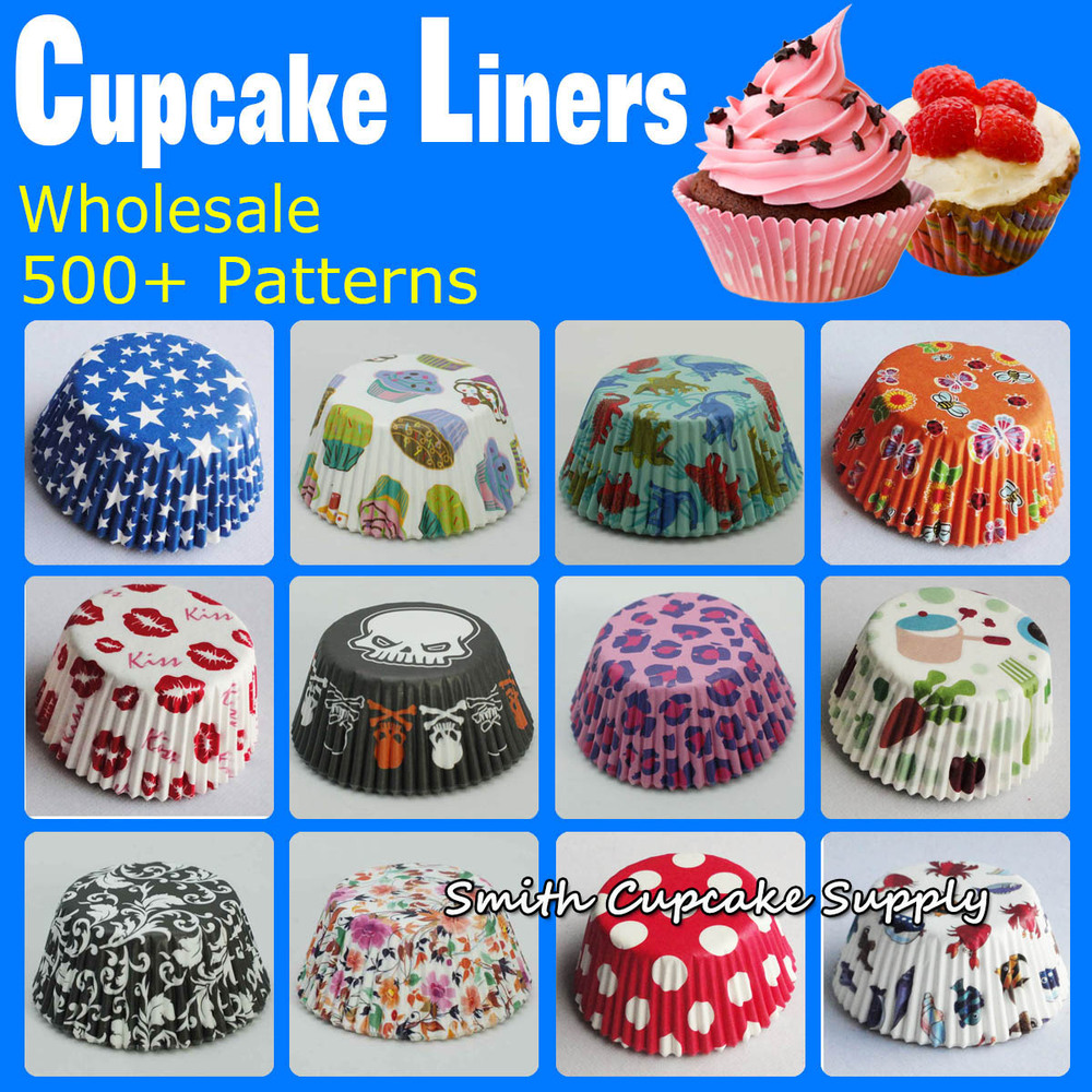 wholesale 600 pcs assorted 12 styles cupcake decorations