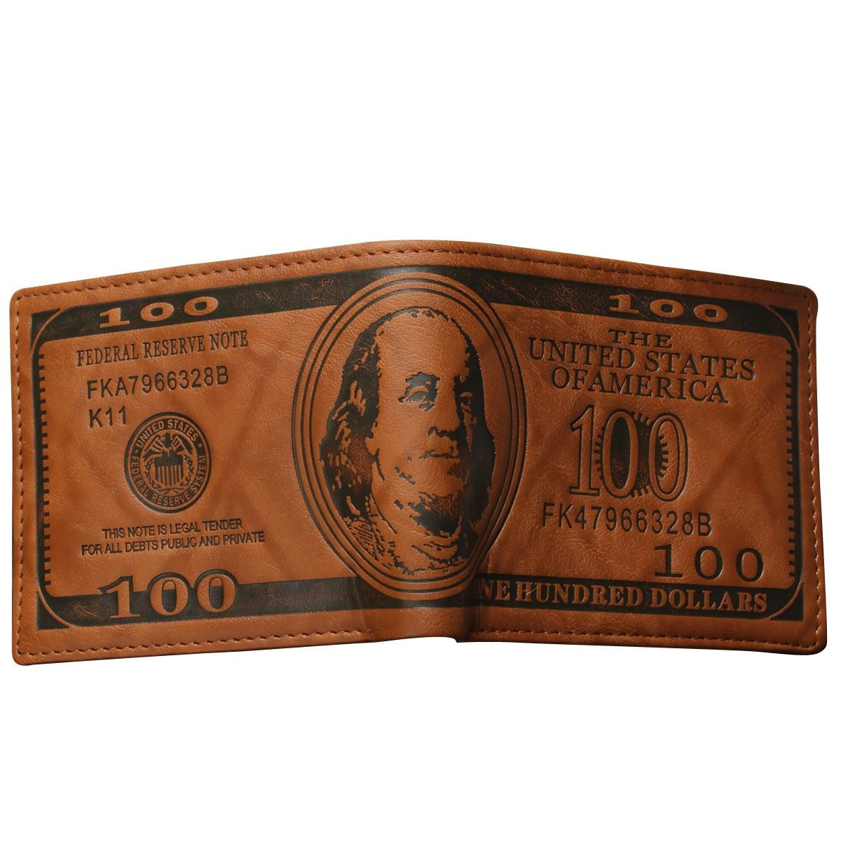 New Designer Men Wallet 100 Dollar Bill Design Short Purses Leather Male Pouch Notecase Retro Vintage Style Credit Card Holders<br><br>Aliexpress