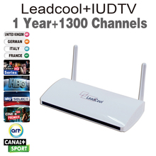Android Tv Box Leadcool Android 4.4 Wifi 1G/8G include one year iudtv 1300 channels europe italy indian portugal iptv account