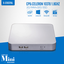 Mini PC Celeron C1037U 2GB RAM 32GB SSD+WIFI Embedded Thin Client Industrial Computer  Support 3G And Wifi(China (Mainland))