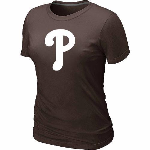MLB Philadelphia Phillies Heathered Brown Women's Nike Blended T-Shirt
