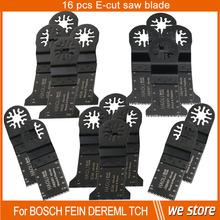 16 unids 32 – 45 mm oscilante multiusos de hojas de sierra para tch, fein, Dremel etc, renovador herramienta de bricolaje en casa, de corte de madera