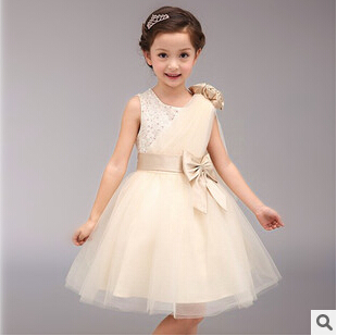 Princess Dresses For Toddler Girls Kid Sleeveless High-level Ceremony Costume Flower Lace Bow Clothes Children Clothing 6pcs/LOT<br><br>Aliexpress