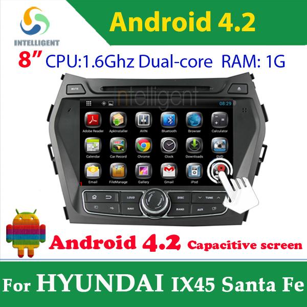 Pure Android 4.2 Car DVD GPS For HYUNDAI IX45 Santa Fe with WIFI 3G GPS Navigation USB Capacitive screen Car radio car stereo(China (Mainland))