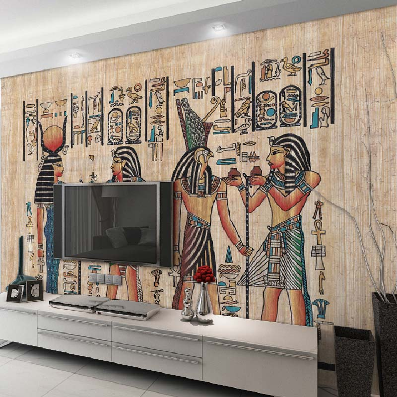 Online get cheap egyptian murals alibaba for Egyptian wallpaper mural