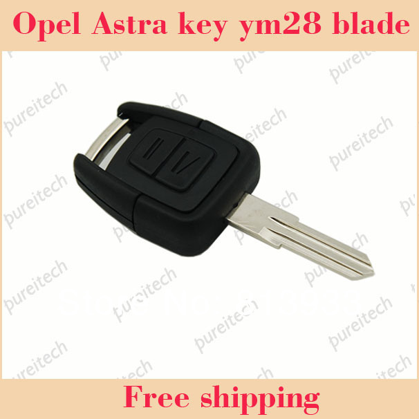 35pieces/lot opel astra vauxhall car remote key blanks 2 buttons no logo with YM28 right blade wholesale(China (Mainland))