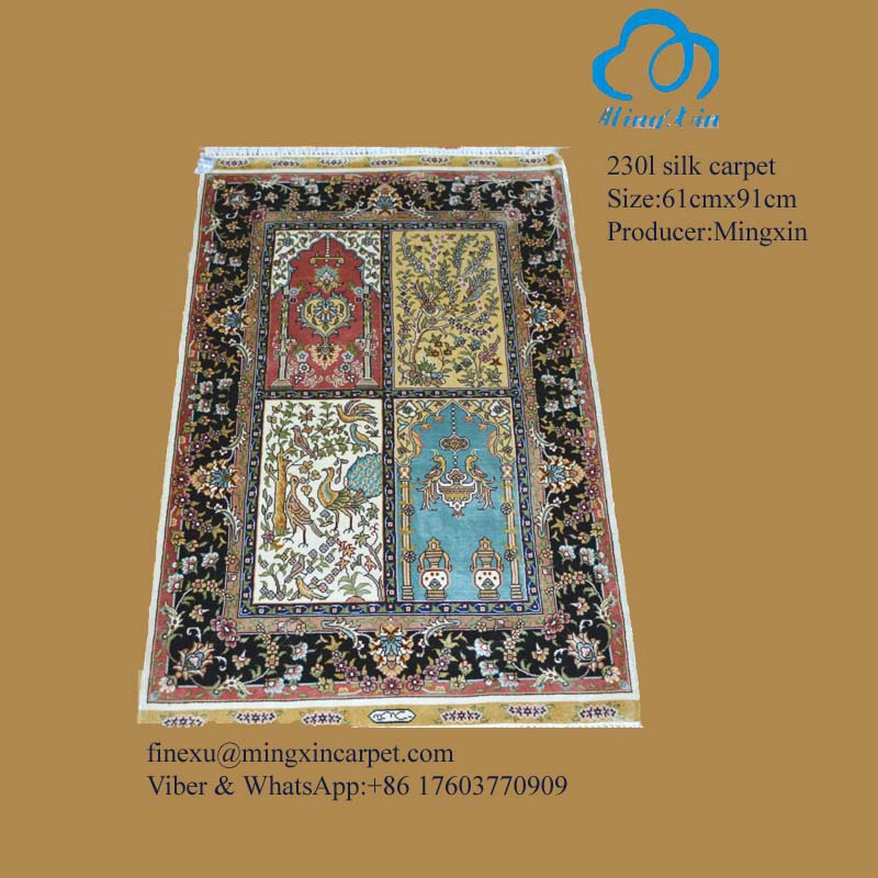 61cmx91cm original handknotted silk carpet rugs top for Best selling rugs
