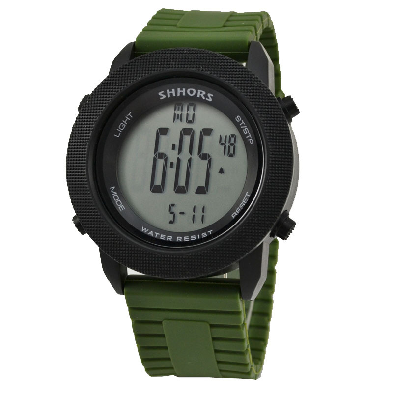 Hot Selling Cheap Military Green Led Digital Watch Men Outdoor Sports Led Electronic Wristwatches SHHORS Digital hours Watches(China (Mainland))