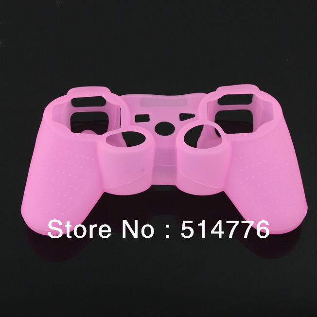 Silicone protection Case for PS3,ps3 controller skin case,pink PS3 case(China (Mainland))